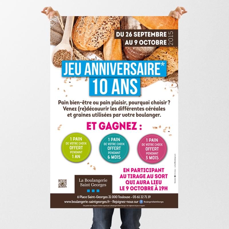 Affiche Boulangerie St-Georges