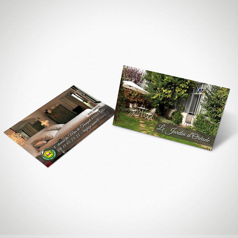 Carte de visite Le Jardin d'Oréade
