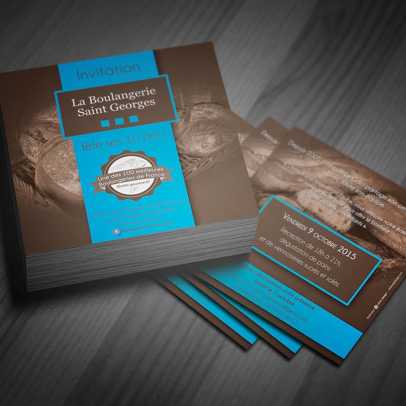 Invitation Boulangerie St-Georges