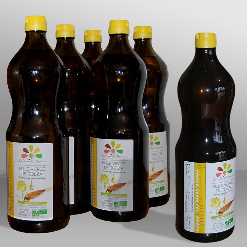 Etiquettes huile La Ferme des Bouviers