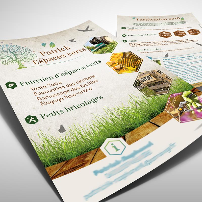 Flyer entretien espaces verts