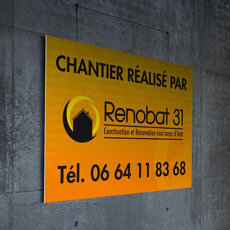 Panneau de chantier Renobat 31